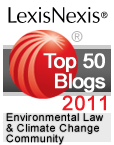 LexisNexis Environmental Law and Climate Change Community 2011 Top 50 Blogs